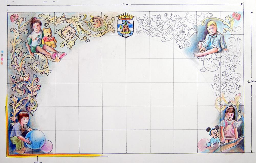 Boceto Realizado Con Lapiceros De Colores